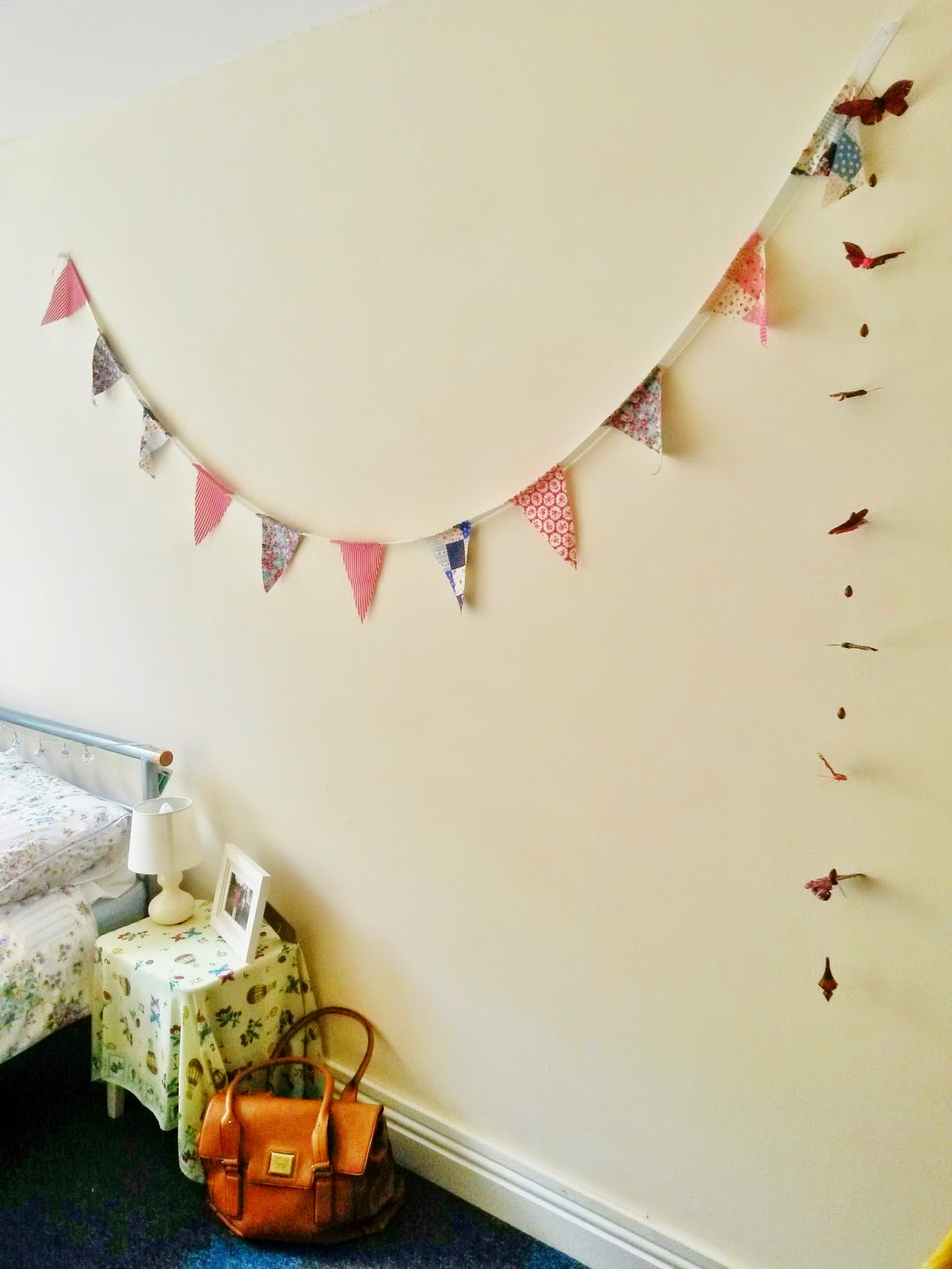 Homemade bunting for taking to university