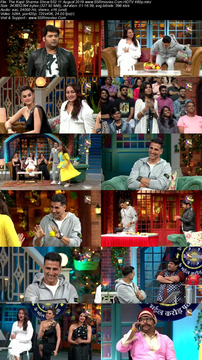 The Kapil Sharma Show S02 10 August 2019 Full Show Download HDTV HDRip 480p