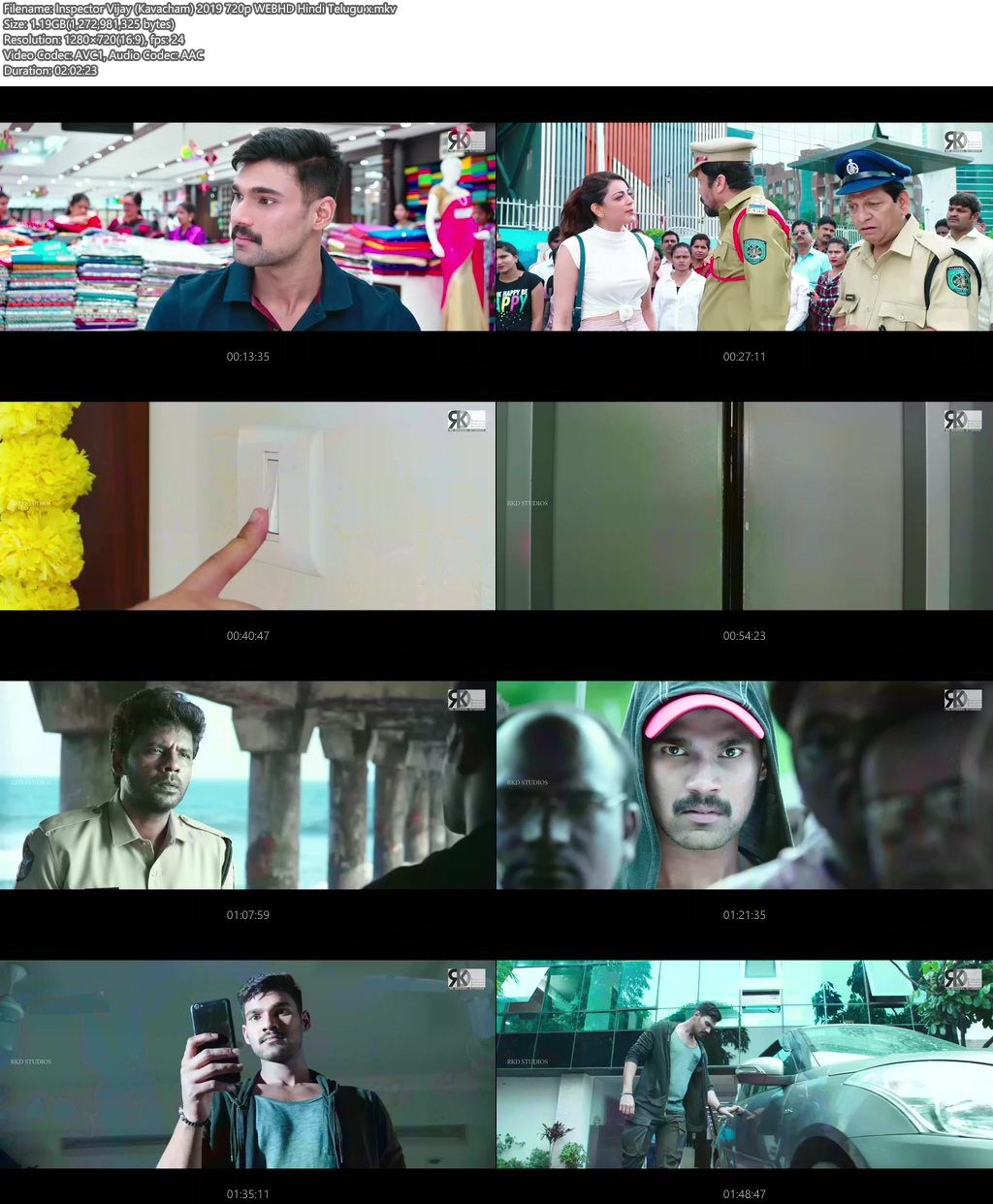 Inspector Vijay (Kavacham) 2019 720p WEBHD Hindi Telugu | 480p 300MB | 100MB HEVC Screenshot