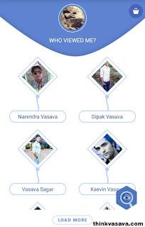 Facebook profile viewers list