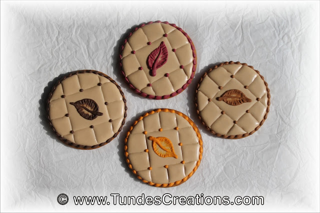 Quilted fall cookie by Tunde Dugantsi