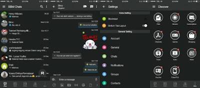 BBM Mod IOS Dark v3.2.3.11 Apk