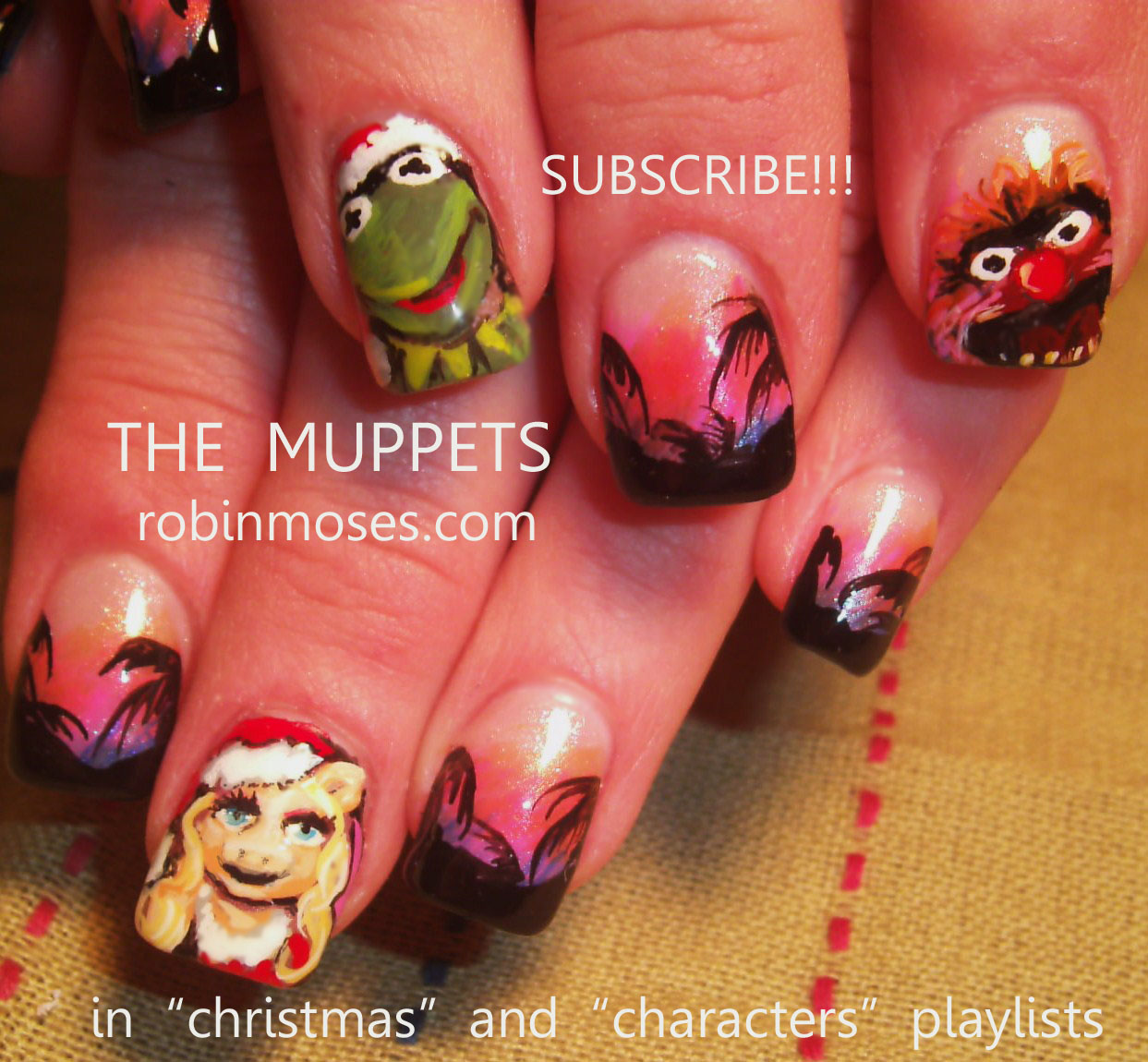 Nail Art By Robin Moses December 2011