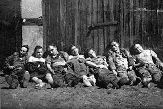 Ciała poległych w walkach z UB i MO w lipcu 1953 roku żołnierzy oddziału NZW por. Wacława Grabowskiego Puszczyka