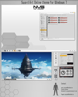 Sword Art Online theme for Windows 7