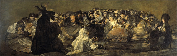 Witches' Sabbath by Francisco de Goya, Macabre Paintings, Horror Paintings, Freak Art, Freak Paintings, Horror Picture, Terror Pictures