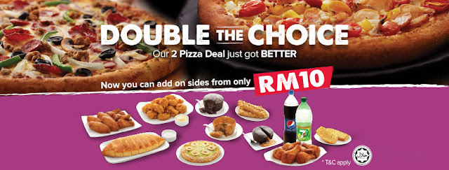 Malaysia Domino's 2 Pizza Deal Add On Sides