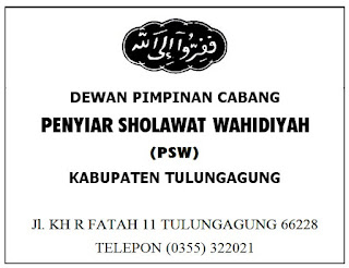 Papan Nama Penyiar Sholawat Wahidiyah