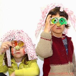 CreaKids: máscaras con hueveras y pelucas de papel de seda