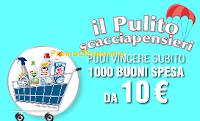 Logo Tanti Premi con ''Il Pulito Scacciapensieri'': vinci 1.000 buoni spesa da 10€ e migliaia di altri premi
