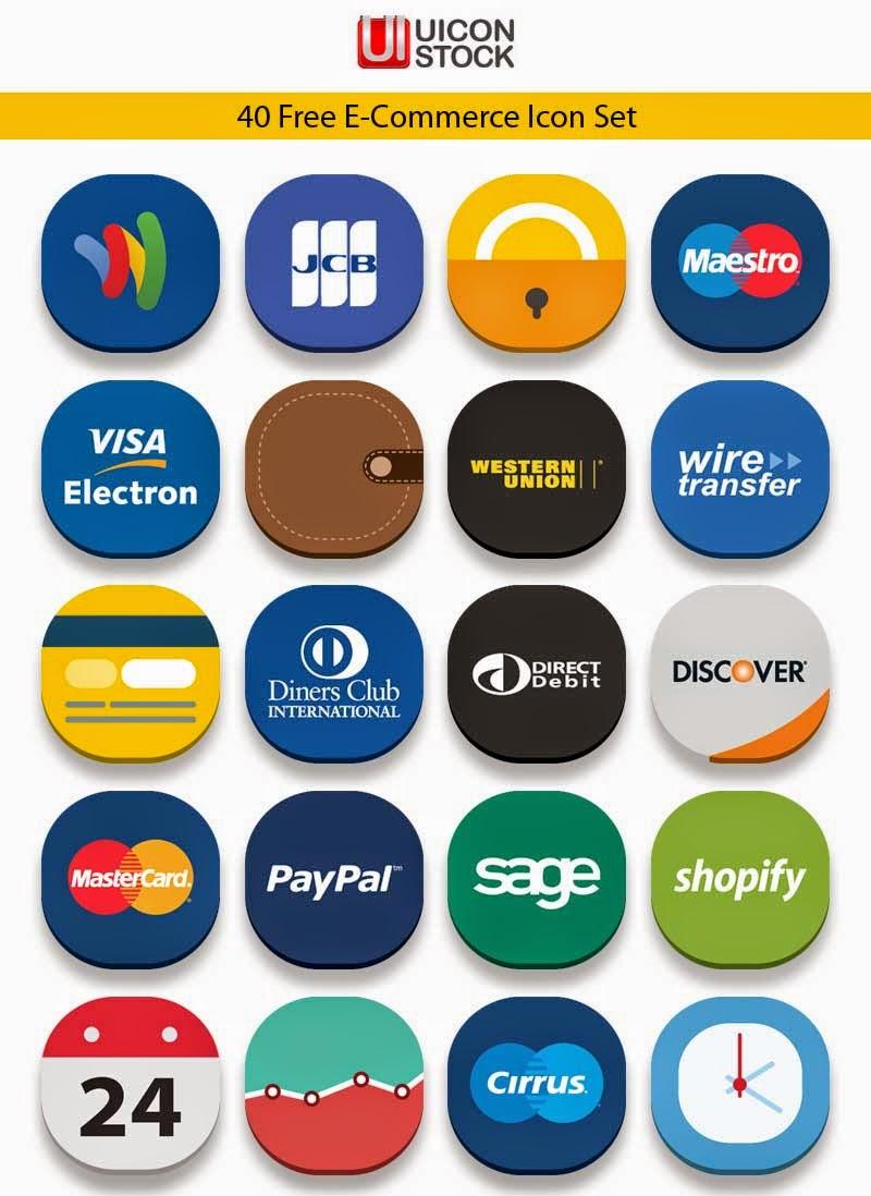 40 Free E-Commerce Icons Set (Ai & Pngs)