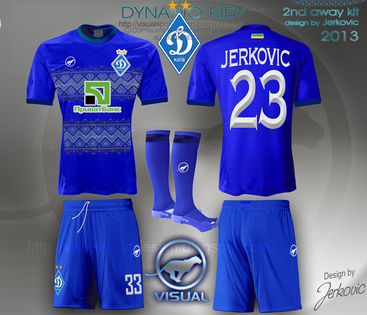 dynamo kiev jersey 2014 football kit visual jerkovic design bcb045ffa56bc