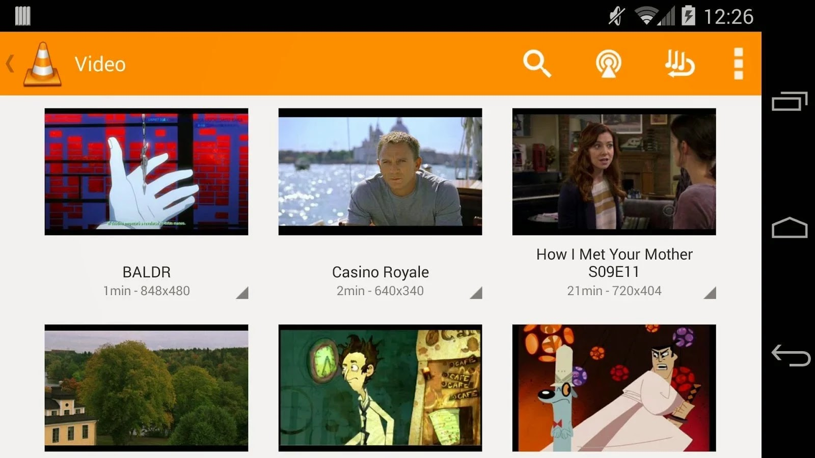 VLC Player Latest Version 0.9.10 (9998) for Android