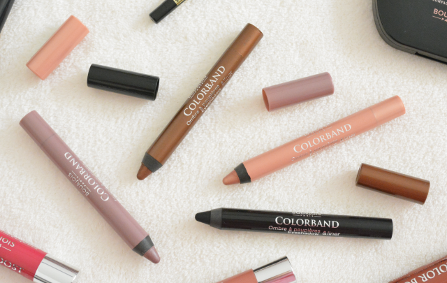 Bourjois colorband eyeshadow and liner sticks, Review