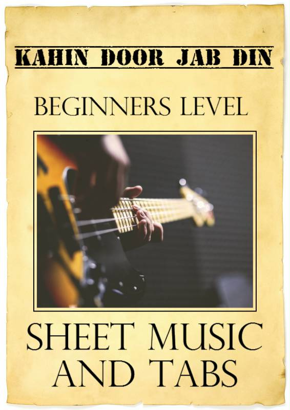 click here to buy at Rs 20kahin door jab din dhal jaye  sc 1 st  guitar TAB hut & guitar TAB hut: kahin door jab din beginner level