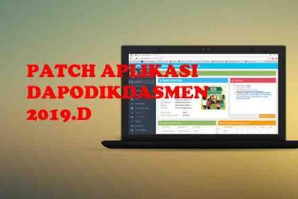 Download Patch Aplikasi Dapodikdasmen 2019.d