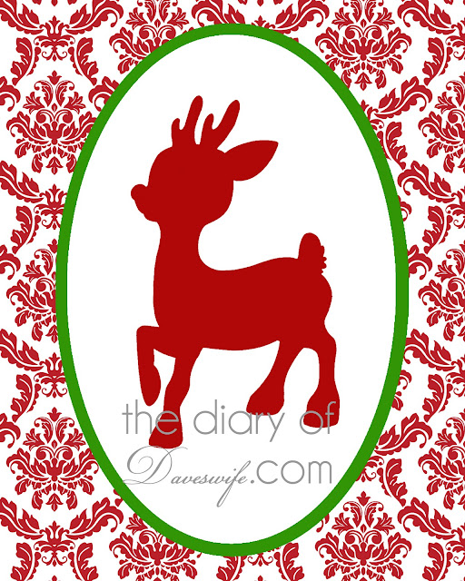 Rudolph free printable