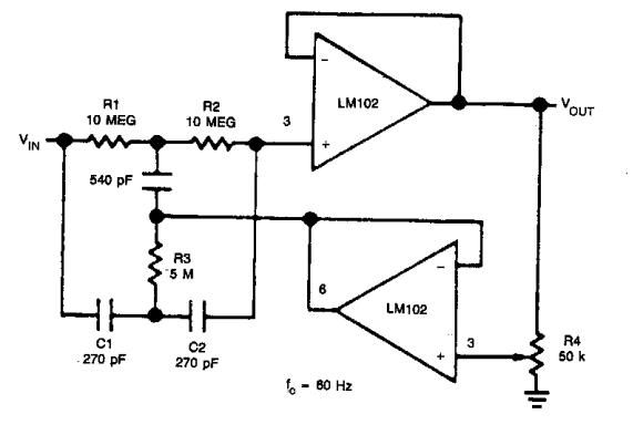 notch filter circuit diagram