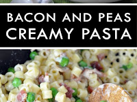 Creamy Pasta with Bacon and Peas