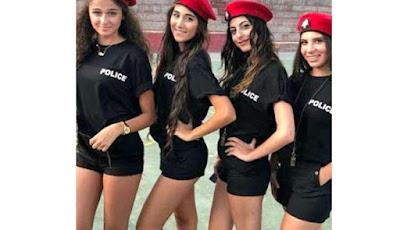 Polisi wanita seksi bercelana pendek dari Libanon