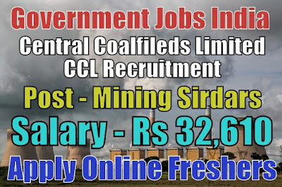 Central Coalfields Limited CCL Recruitment 2018