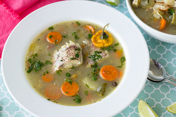 Recipe for making Caribbean Chicken Broth