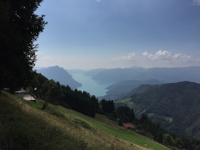 View of Lago d'Iseo from the trail