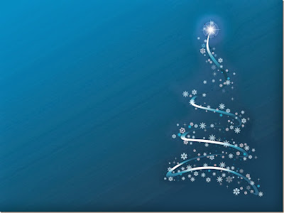 Arvore  azul de Natal