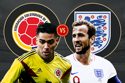 Live Streaming Colombia vs England Piala Dunia 4.7.2018
