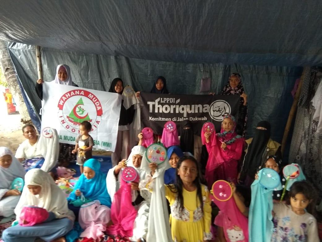 Akhwat Thoriquna Gelar Pelatihan Kerajinan Tangan Bagi Pengungsi