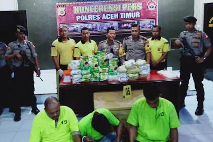 Dua Ploh Lapan Kilo Sabu-Sabu di Aceh Timu, Jikeuneuk Tulak u Panton Labu