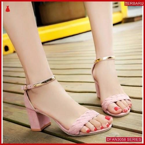 DFAN3058S89 Sepatu Sd04 Hak Tahu Wanita Sepatu Hak BMGShop
