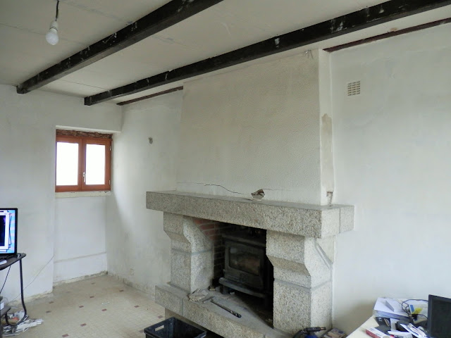 Renovating a stone chimney in france
