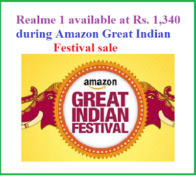 Realme 1 available at Rs. 1,340 during Amazon Great Indian Festival sale