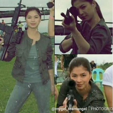 "Astig Photos Of Angel Locsin Holding A Firearm Excite Everyone For Her Next Project - ""The General's Daughter"""