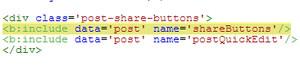 Blogger hızlı yazı düzenleme şablon kodu görünümü