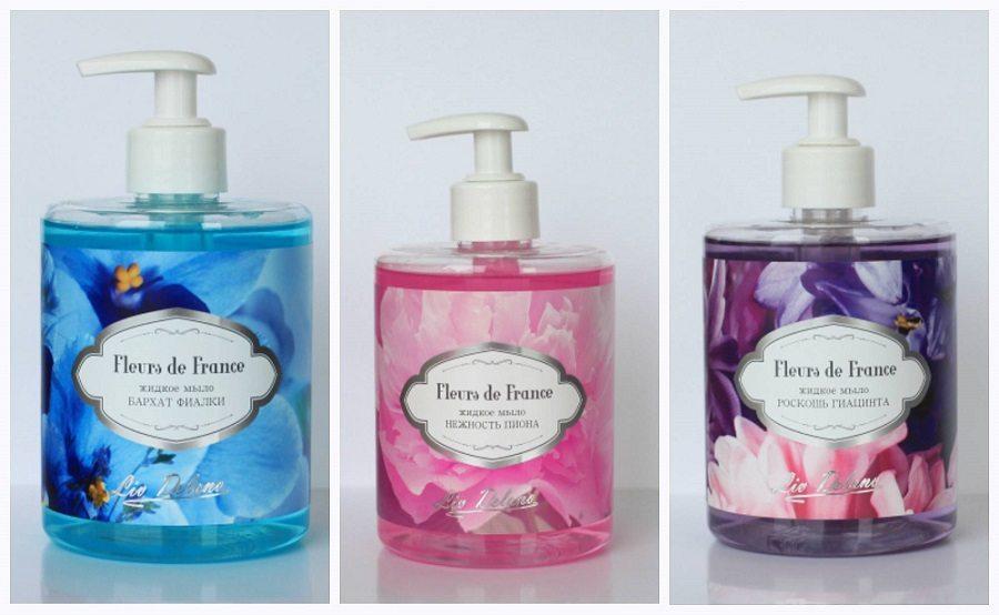 Liv Delano. Жидкое мыло Fleurs de France