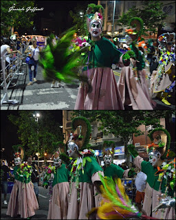 Desfile Inaugural del Carnaval. Uruguay. 2017.Murga Diablos Verdes