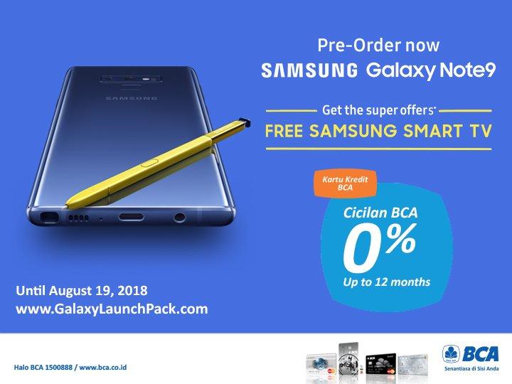 Bank BCA - Promo Beli Samsung Galaxy Note 9 Dapat TV Gratis