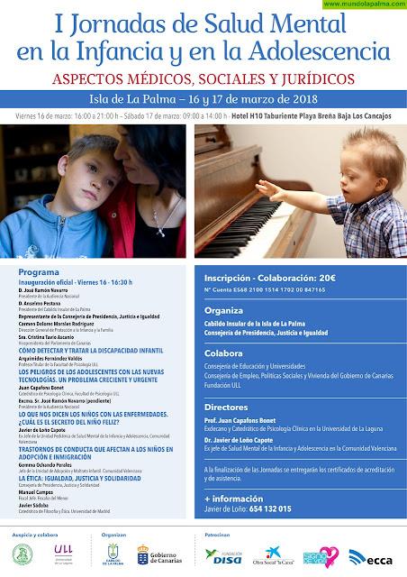 La Palma acoge unas jornadas sobre salud mental en la infancia y adolescencia
