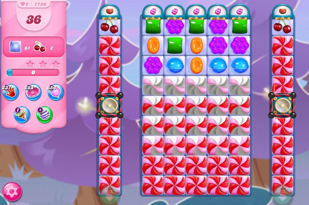 Candy Crush Saga level 7736