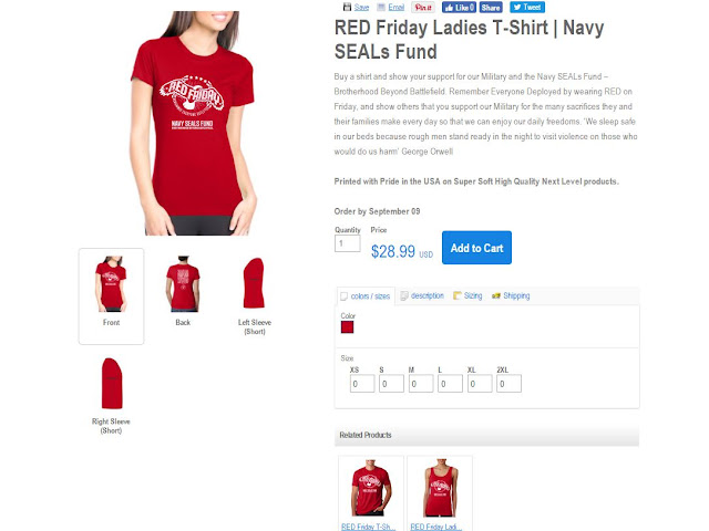 Related Product: RED Friday Ladies T-Shirt | Navy SEALs Fund