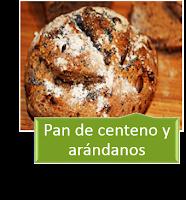 PAN DE CENTENO Y ARÁNDANOS
