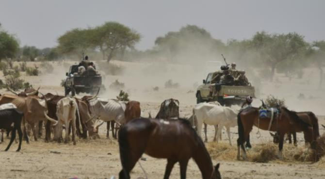 Niger soldiers patrol near a village in the Diffa region. By Issouf Sanogo (AFP/File). Niamey (AFP) - Seven Niger soldiers were killed and eight others wounded in two separate attacks by Boko Haram Islamists over the past week, the army has said.