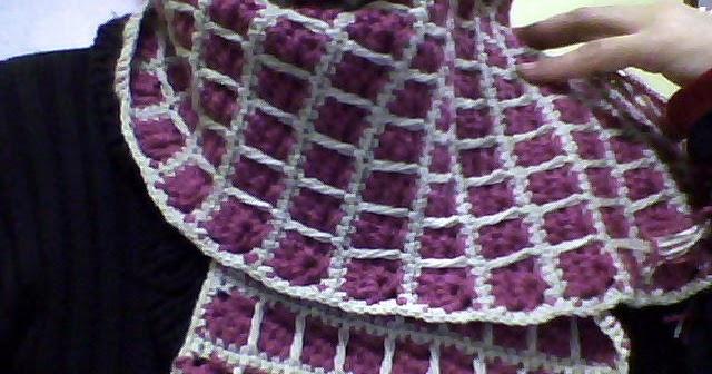 Artesanías Tresarroyenses  bufanda cuadrados crochet 22062f39111