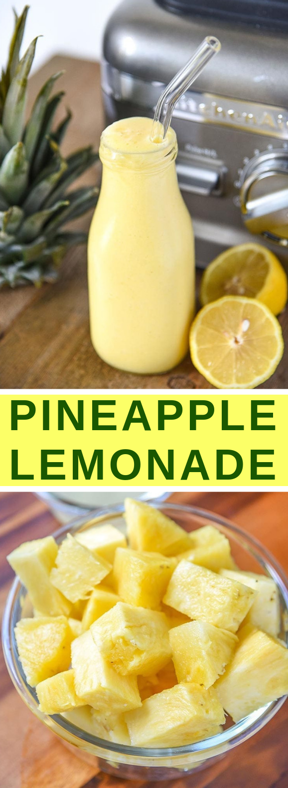Pineapple Lemonade Recipe #drinks #freshdrink