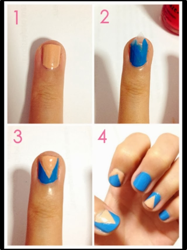 Simple Nail Art Step by Step Instruction