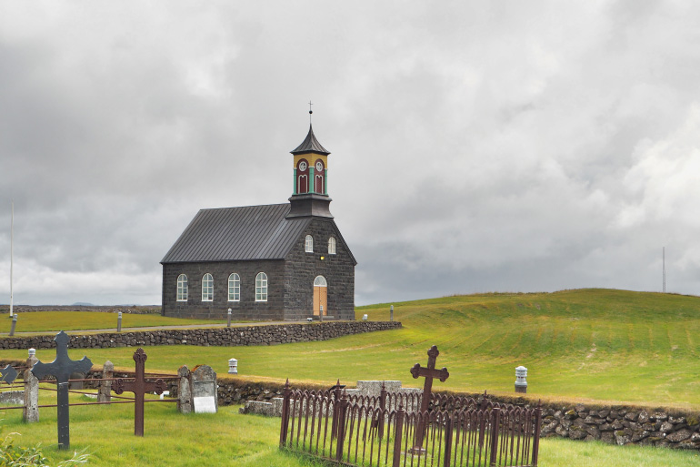 Road trip en Islande - église Hvalsneskirkja sur la péninsule de Reykjanes