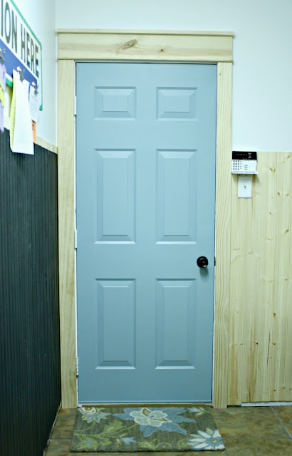 Light blue interior door