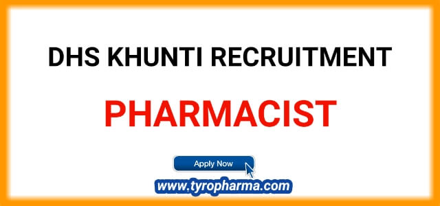 DHS Khunti Pharmacist Job Notification | 09 posts